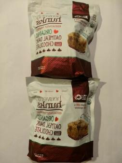 2 Bags E&C's Heavenly Hunks Organic Oatmeal Dark Chocolate C