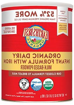 2 CANS - Earth's Best Organic Infant Formula with Iron - 35