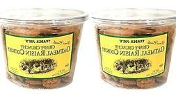 2 Packs Trader Joe's Dress Circle Crispy Crunchy Oatmeal Rai
