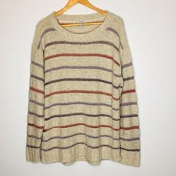 Susina 2X Stripe Knit Sweater Oatmeals NWT Womens size 2X