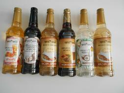Assorted Mix of 6  Jordan's Skinny Syrups Gourmet Sugar Free