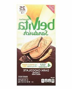 Belvita Breakfast Sandwich Biscuits, Dark Chocolate Creme, 2
