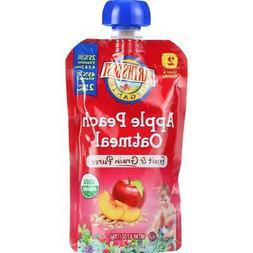 Earth's Best-Organic Apple Peach Oatmeal Puree, Pack of 12