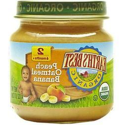 Earth's Best-Organic Peach Oatmeal Banana, Pack of 12
