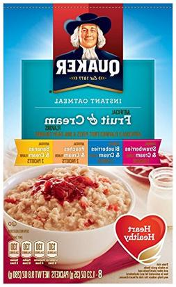 Quaker Fruit & Cream Flavors Instant Oatmeal Variety Pack, 1
