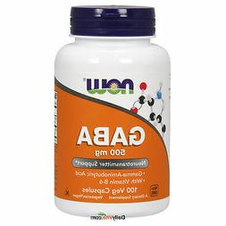NOW Foods GABA 500 mg + B-6 100 VCap, Promotes Relaxation, F