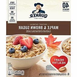 Quaker Instant Oatmeal, Maple Brown Sugar Flavor, 40 Packets