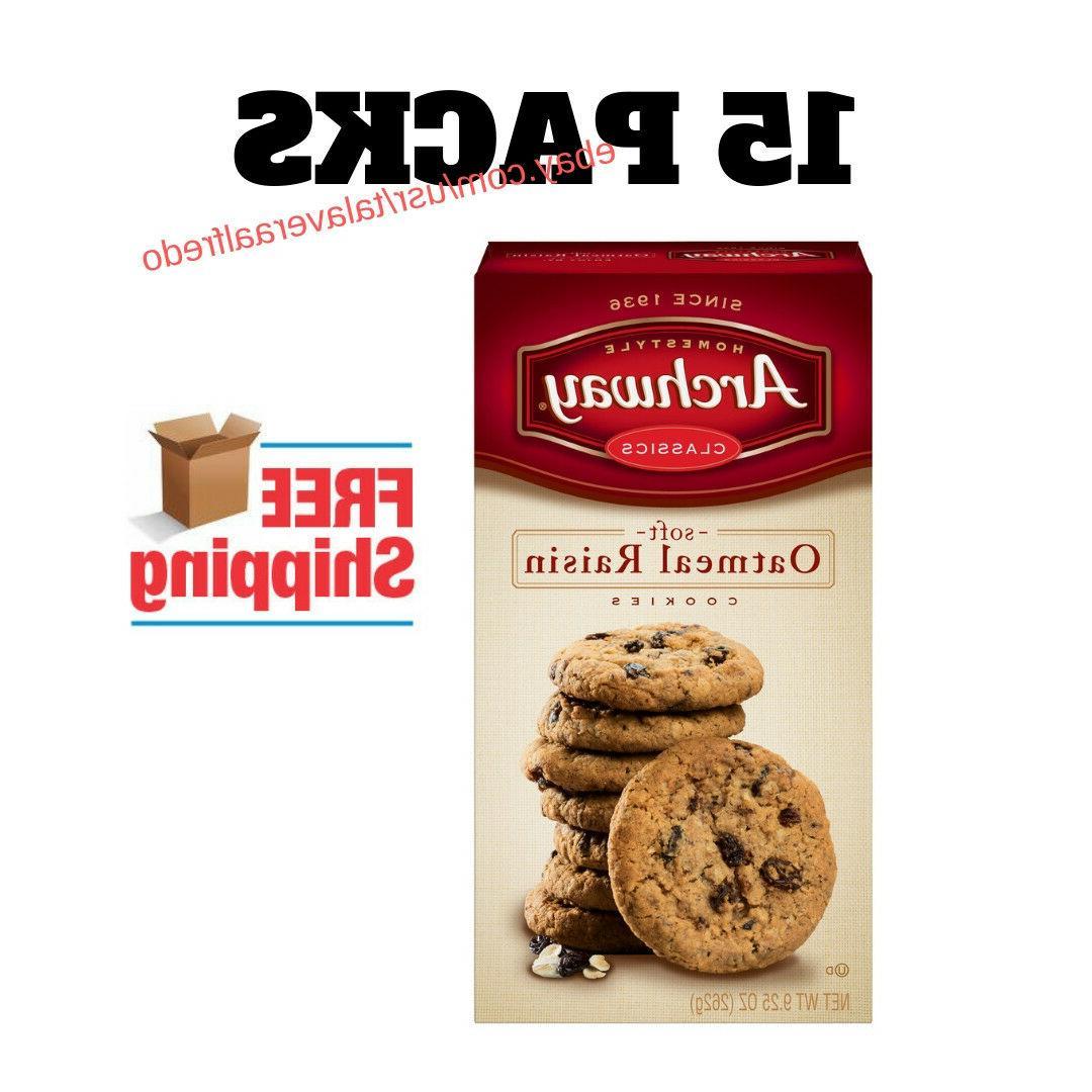 15 pack oatmeal raisin classic cookies 9