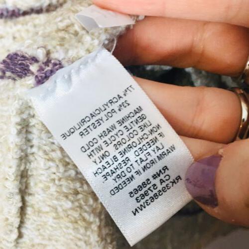 Susina 2X Stripe Knit Sweater Oatmeals size