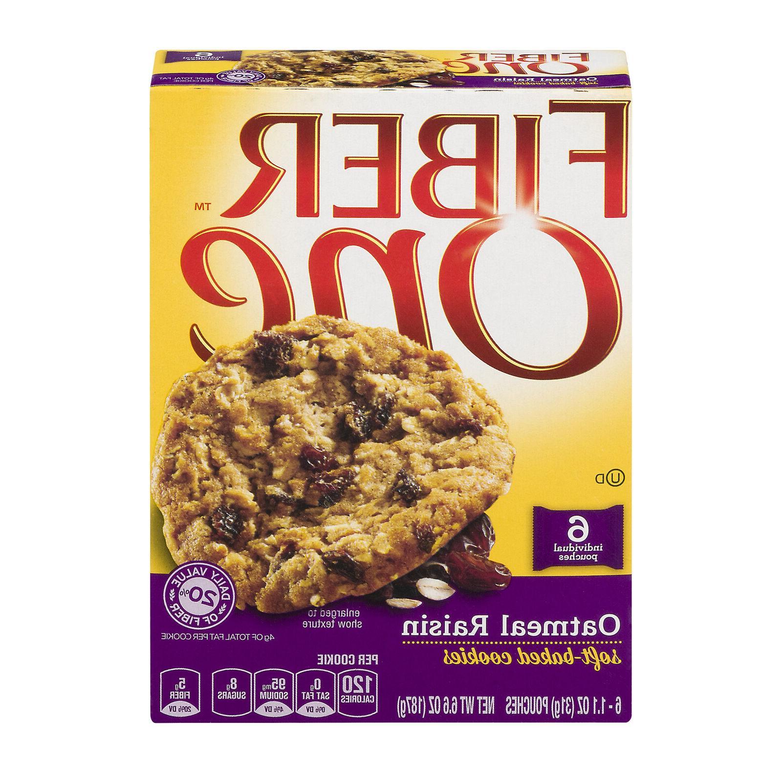6 Fiber One Raisin Cookies, Shipping
