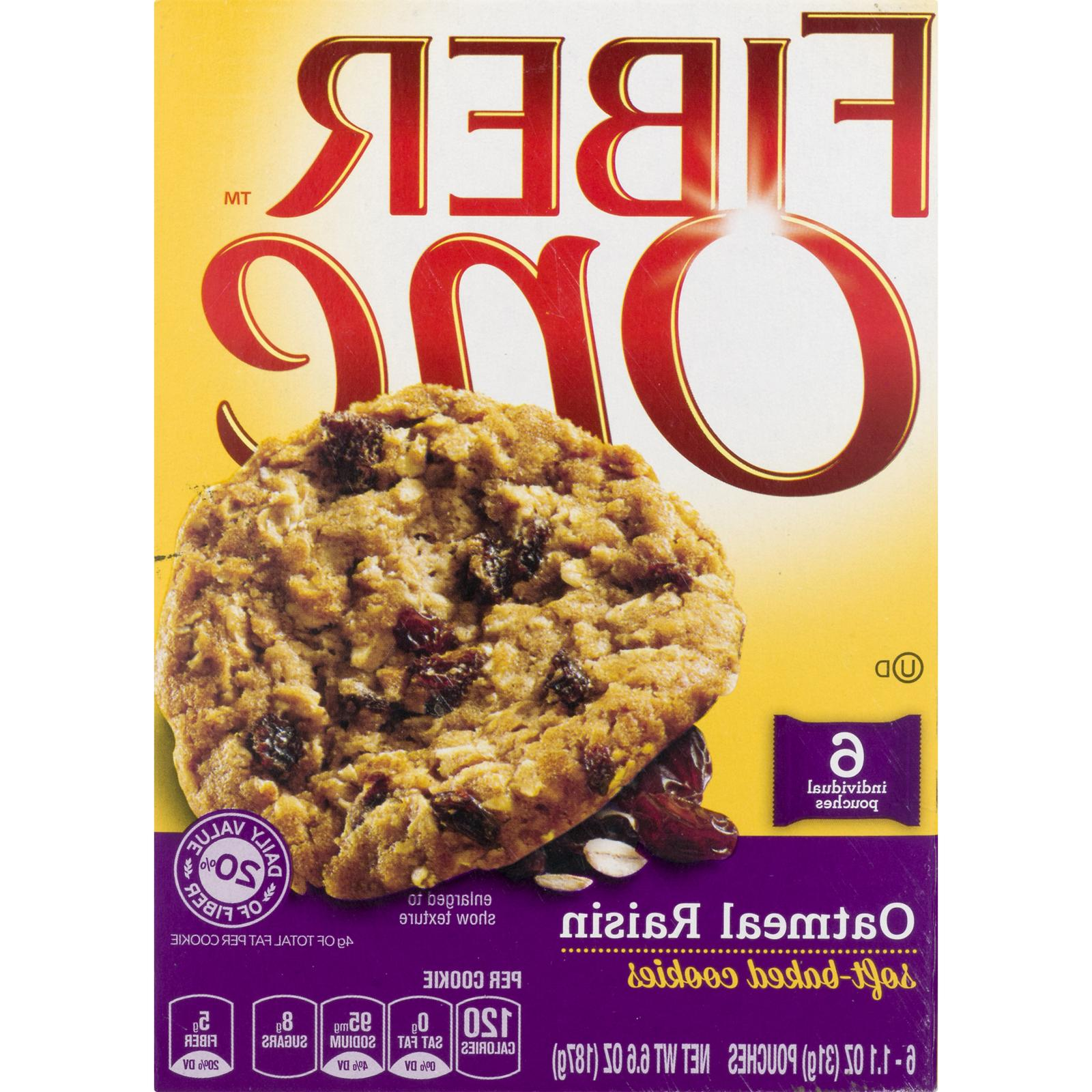 6 Boxs One Raisin Cookies, Count, Free Shipping
