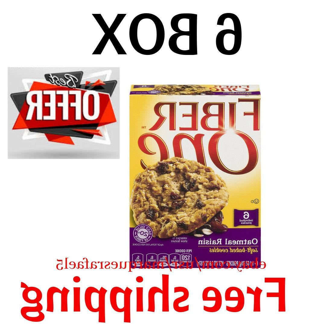 6 boxs oatmeal raisin soft baked cookies