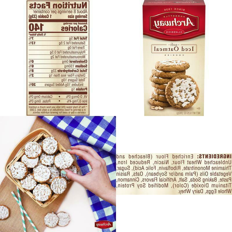 iced oatmeal soft cookies 9 25 oz