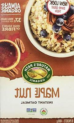 Nature's Path Organic Instant Hot Oatmeal Maple Nut -- 8 Pac