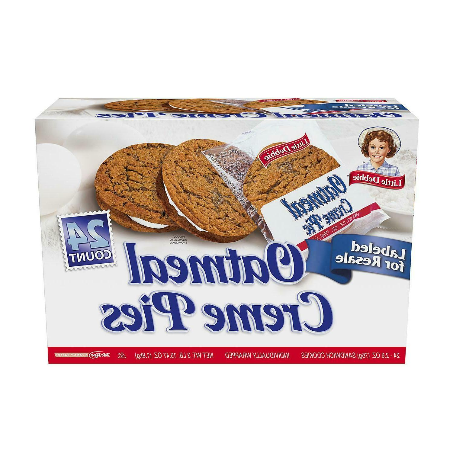 oatmeal creme pies individually wrapped 24 ct