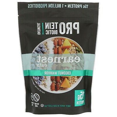 protein probiotic oatmeal coconut warrior 8 oz