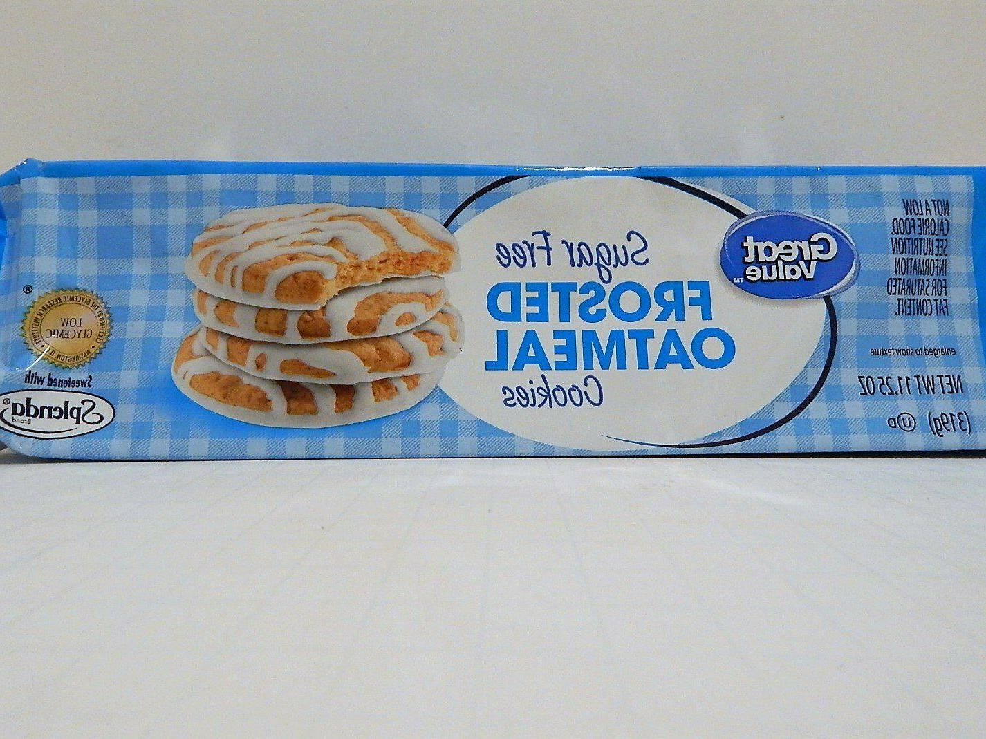 Great value Sugar Free frosted oatmeal cookies *** lot of 4