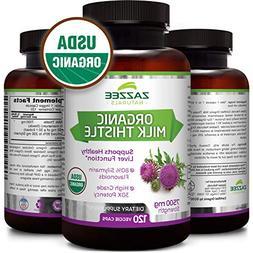 USDA Organic Milk Thistle | 7500 mg Strength | 120 Veggie Ca