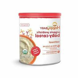 Happy Baby Organic Probiotic Baby Cereal Oatmeal Iron Probio