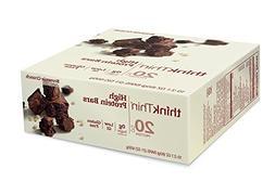 thinkThin High Protein Bars, Brownie Crunch, 2.1 Ounce