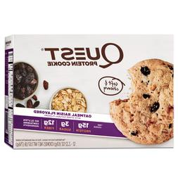 Quest Nutrition Protein Cookie Oatmeal Raisin- Box of 12 EXP