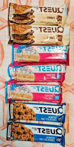 QUEST Protein Bars - S'mores, Birthday Cake, & Oatmeal Choco