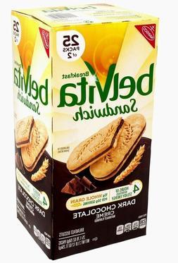 Belvita Sandwich dark chocolat Breakfast Biscuits 25 Packs o