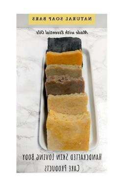 Handmade Soap Bars, All Natural Herbal Soap, Shaving Bar Soa